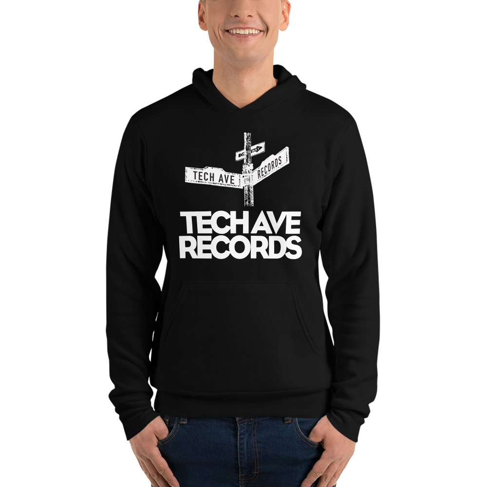 Unisex hoodie - TAR White Stacked Logo