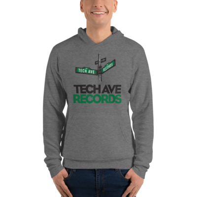 Unisex hoodie - TAR Black and Green Stacked Logo