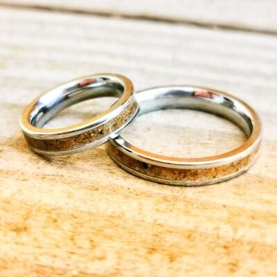 Llangennith Sand Steel 4mm Ring