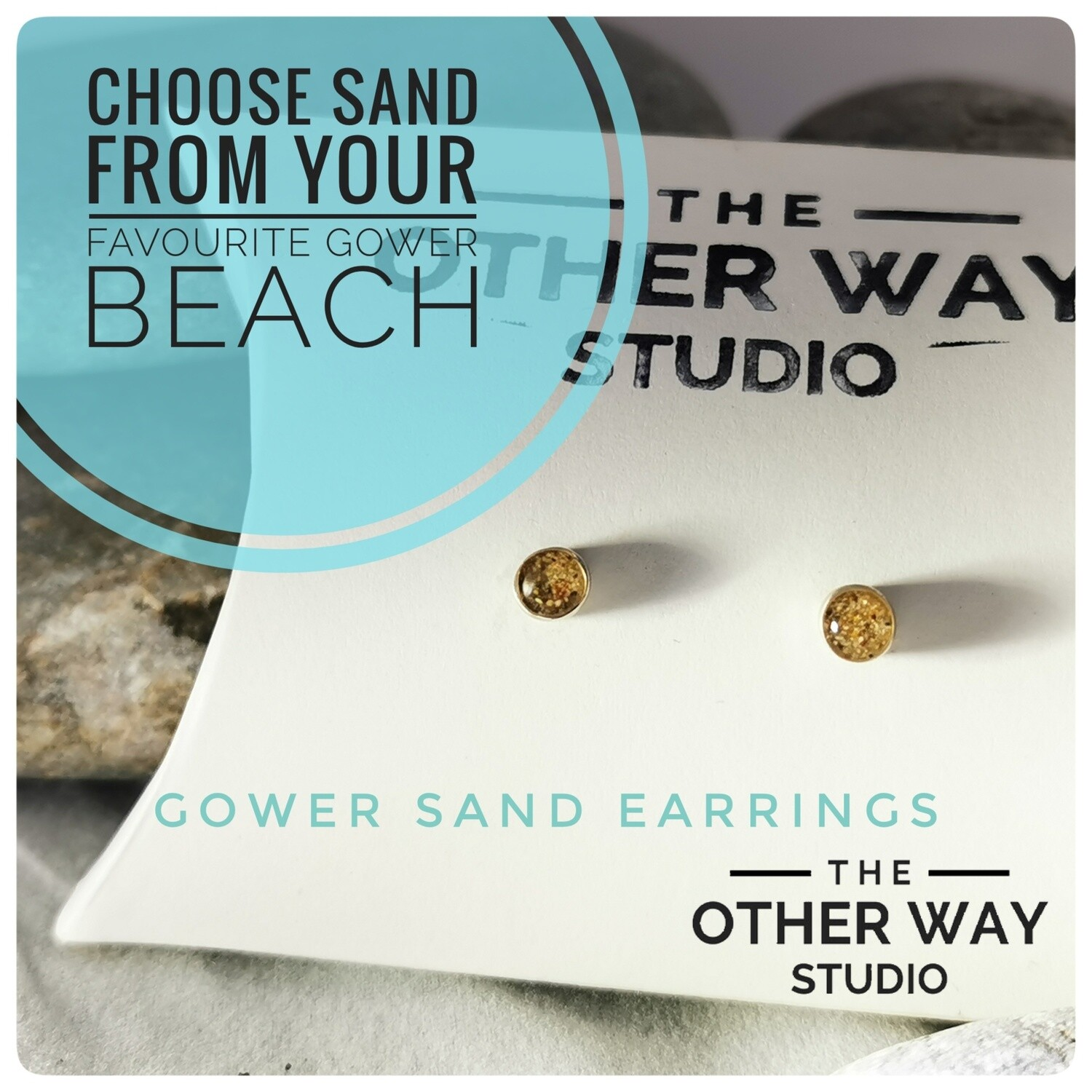 Gower Beaches Sand Earrings