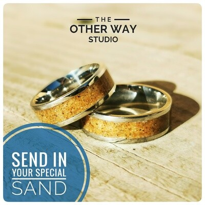 Send In Your Special Sand & Steel Rings 8mm