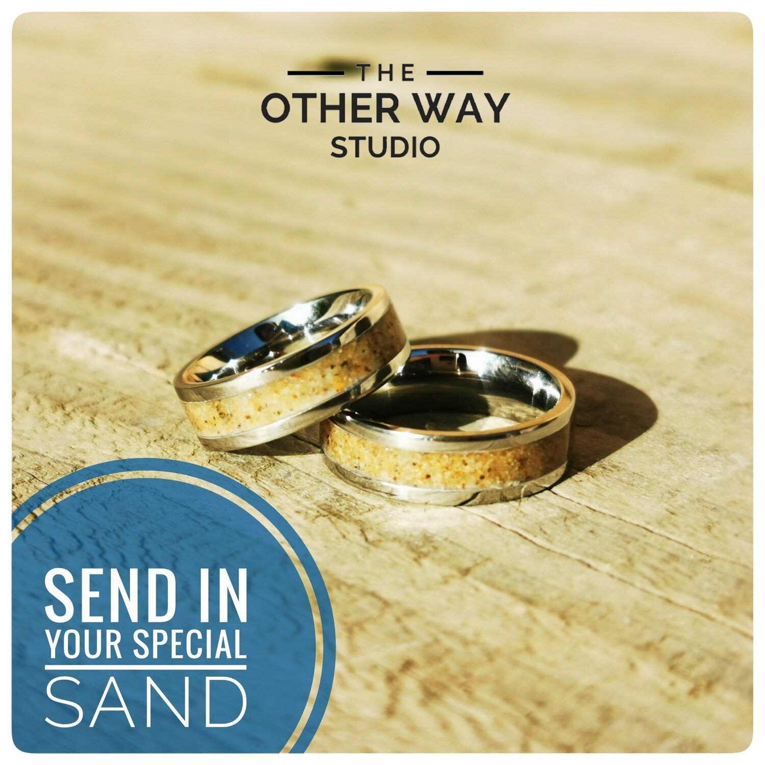Send In Your Special Sand & Steel Rings 6mm