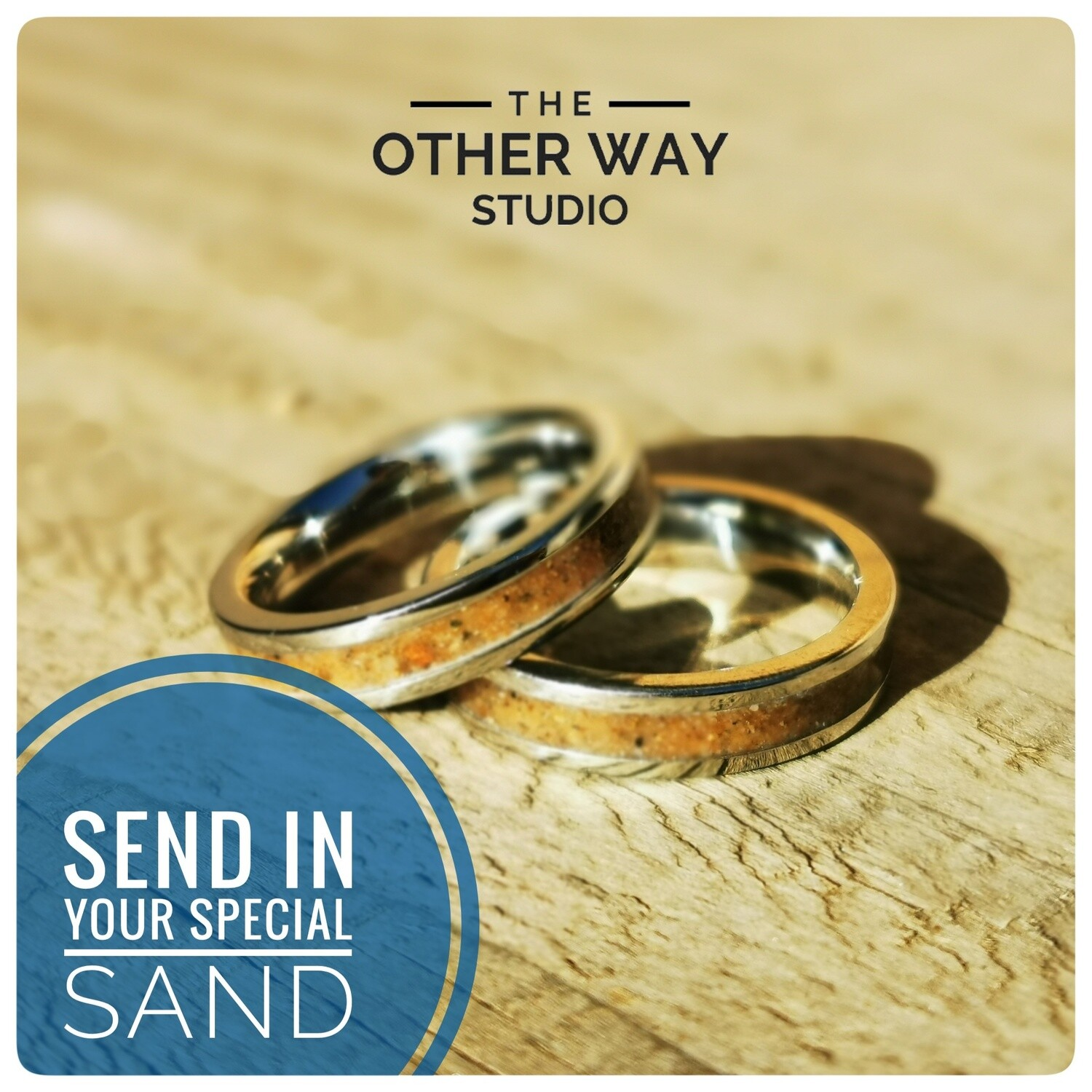 Send In Your Special Sand & Steel Rings 4mm