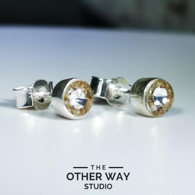 Gower Beaches Sand & Swarovski Crystal Earrings