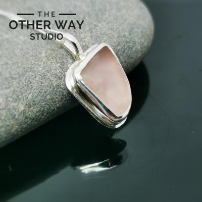 Pretty in Pink Sea Glass pendant
