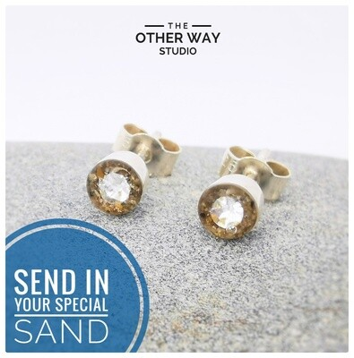 Send In Your Special Sand & Swarovski Crystal Earrings