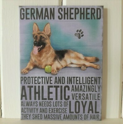 German Shepherd Fridge Magnet
