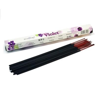 Pack of 20 Stamford Violet Incense Sticks