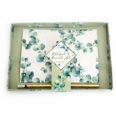 Eucalyptus Design A5 Notepad & Pencil Gift Set
