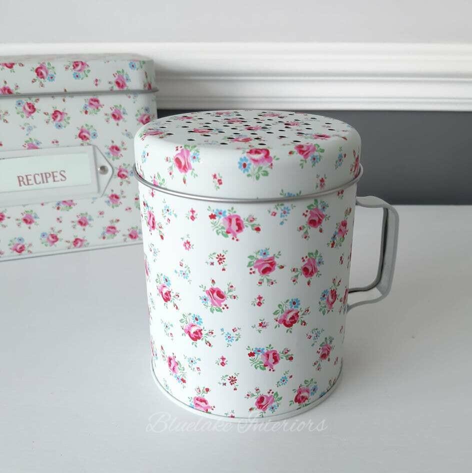 Ditsy Rose Floral Design Flour Shaker
