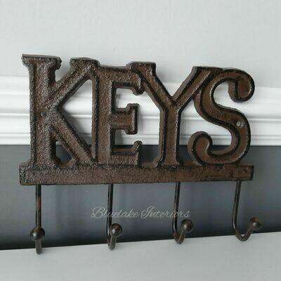 Cast Iron Keys Wall Hooks
