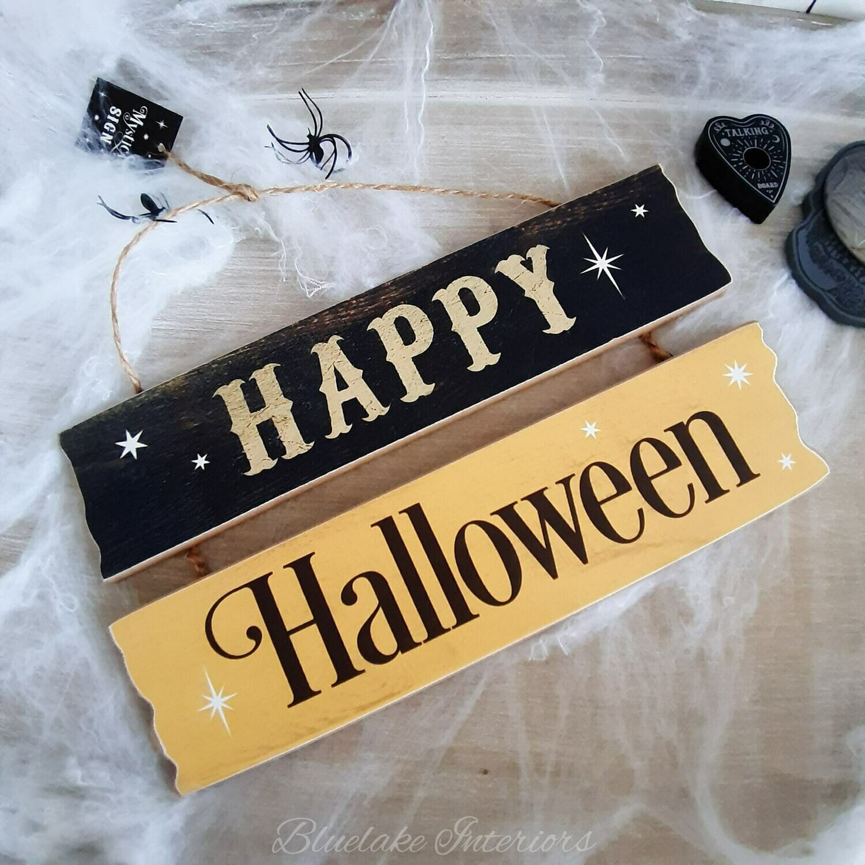 Happy Halloween Hanging Wall Plaque