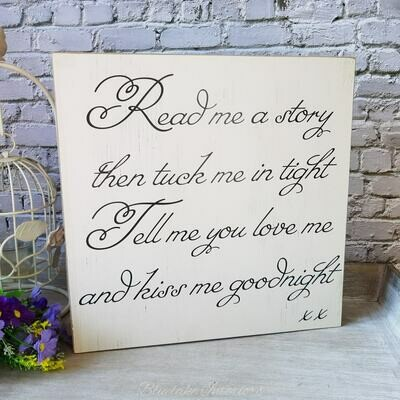 Read Me A Story Tuck Me In Tight Tell Me You Love Me Kiss Me Goodnight Wall Plaque