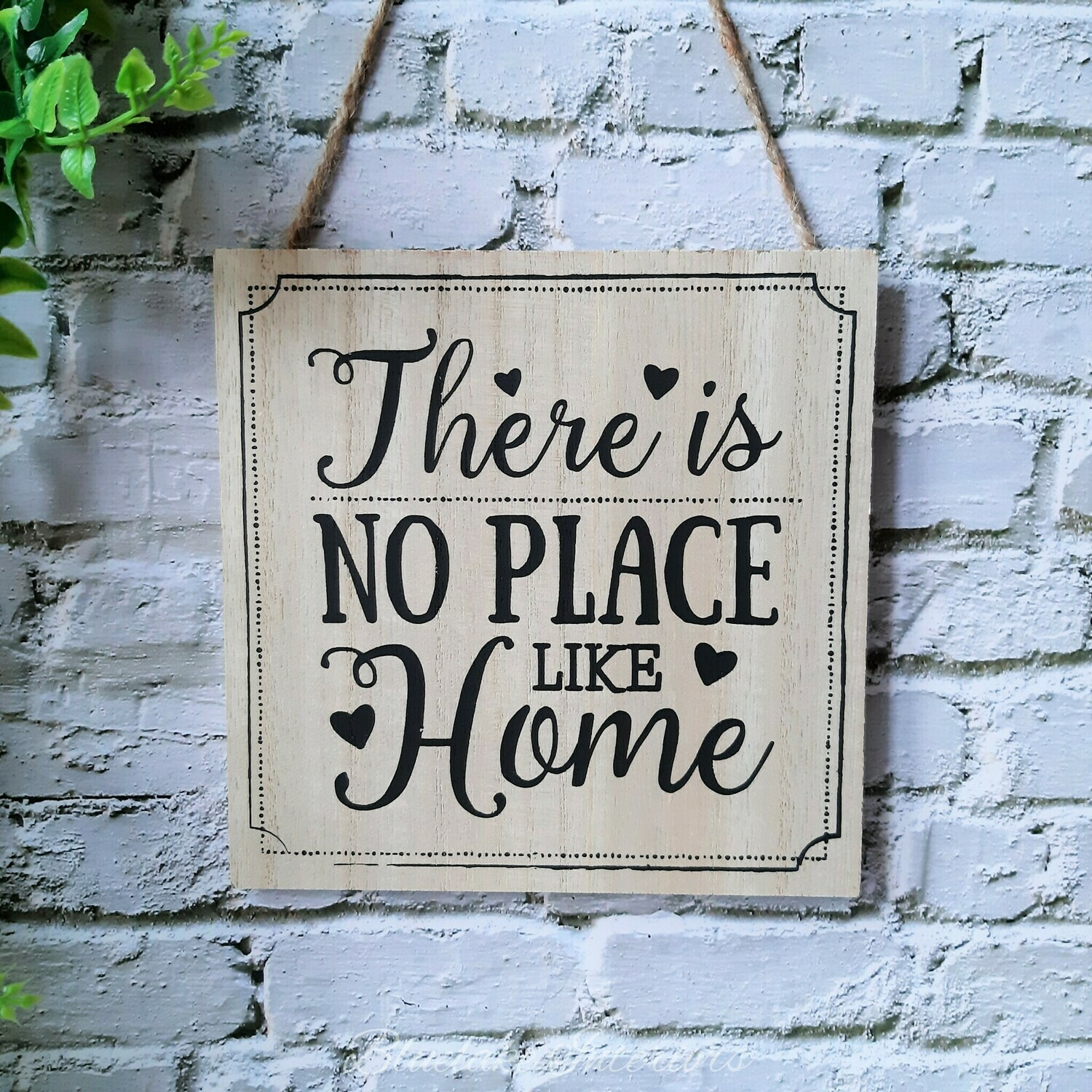 There Is No Place Like Home Rustic Plaque