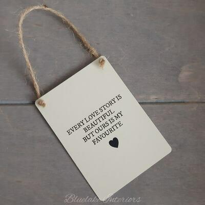 Every Love Story Is Beautiful Heart Mini Metal Sign