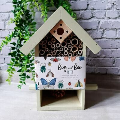 Green Wooden Bug & Bee Hotel