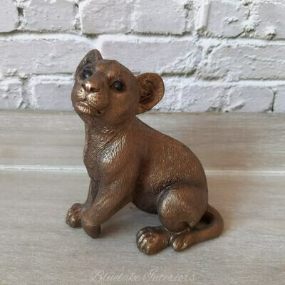 Bronzed Lion Cub from the Leonardo Reflections Collection