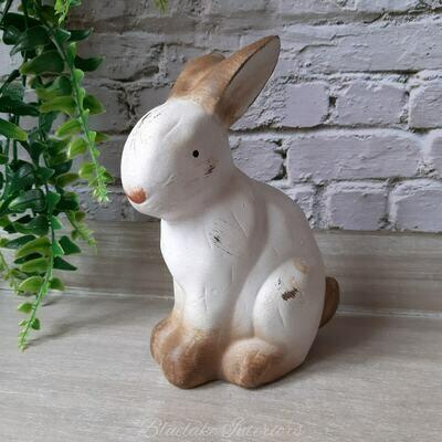 Cute Distressed Finish Rabbit Ornament