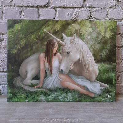 Mythical Unicorn Pure Heart Canvas Picture By Anne Stokes