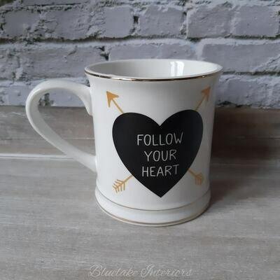 Follow Your Heart White Mug