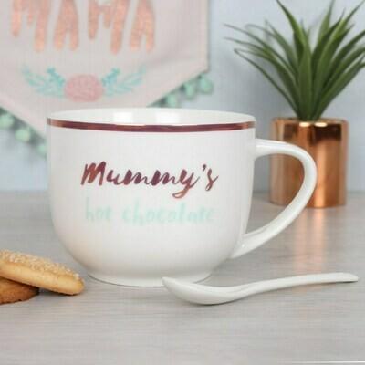 Mummy's Hot Chocolate Mug & Spoon Gift Set