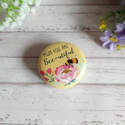 Blossom & Bee Compact Mirror Mum You Are Bee-utiful