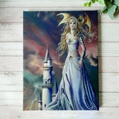 Enchanting Asiria Spark Canvas Wall Picture by Nene Thomas Dragon Fantasy