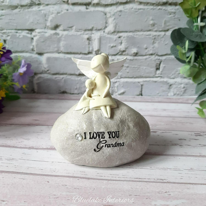 Angel Stone I Love You Grandma Sentiment Keepsake Gift