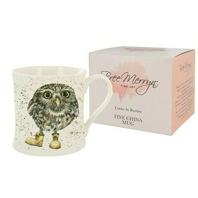 Bree Merryn Oakley The Little Owl Cuties In Booties China Mug