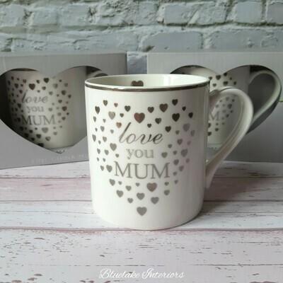 Heart To Home Love You Mum Fine China Gift Boxed Mug