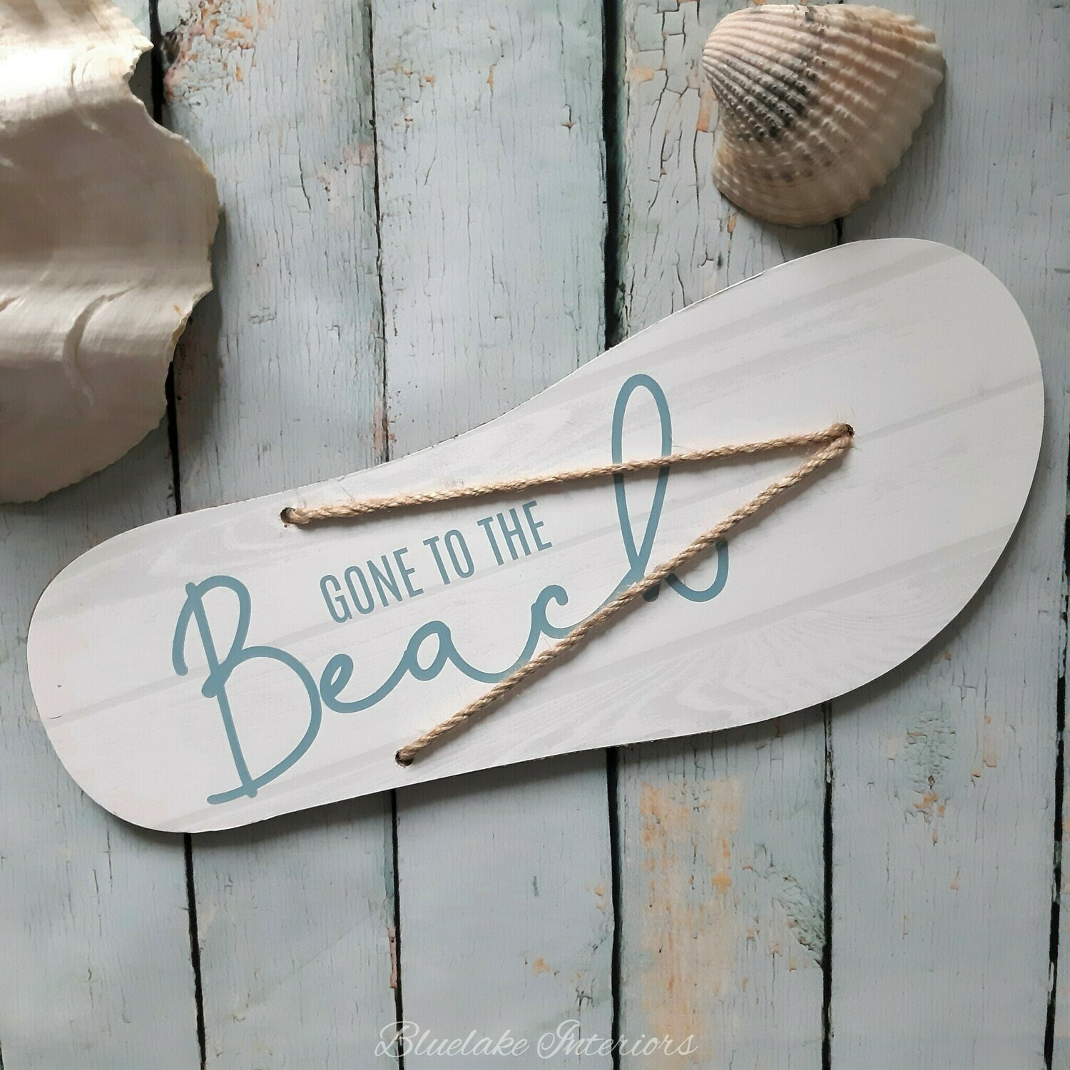 Gone To The Beach Nautical Flip Flop Wall Plaque