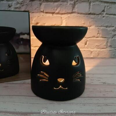 Black Cat Cut Out Design Candle Oil & Wax Melt Burner
