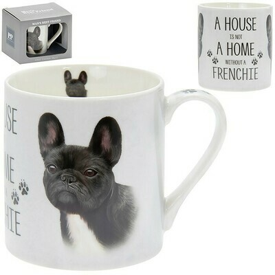 A House Is Not A Home Without A Frenchie French Bulldog Gift Boxed Mug