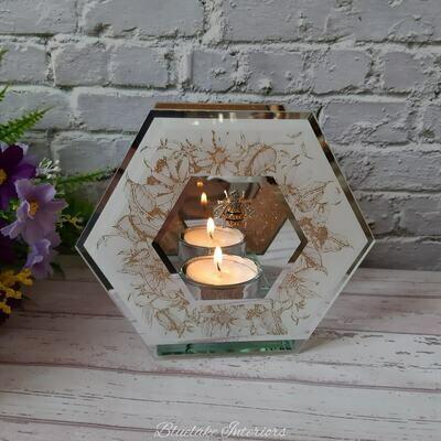 Honeycomb Bees Hexagonal Tea Light Holder