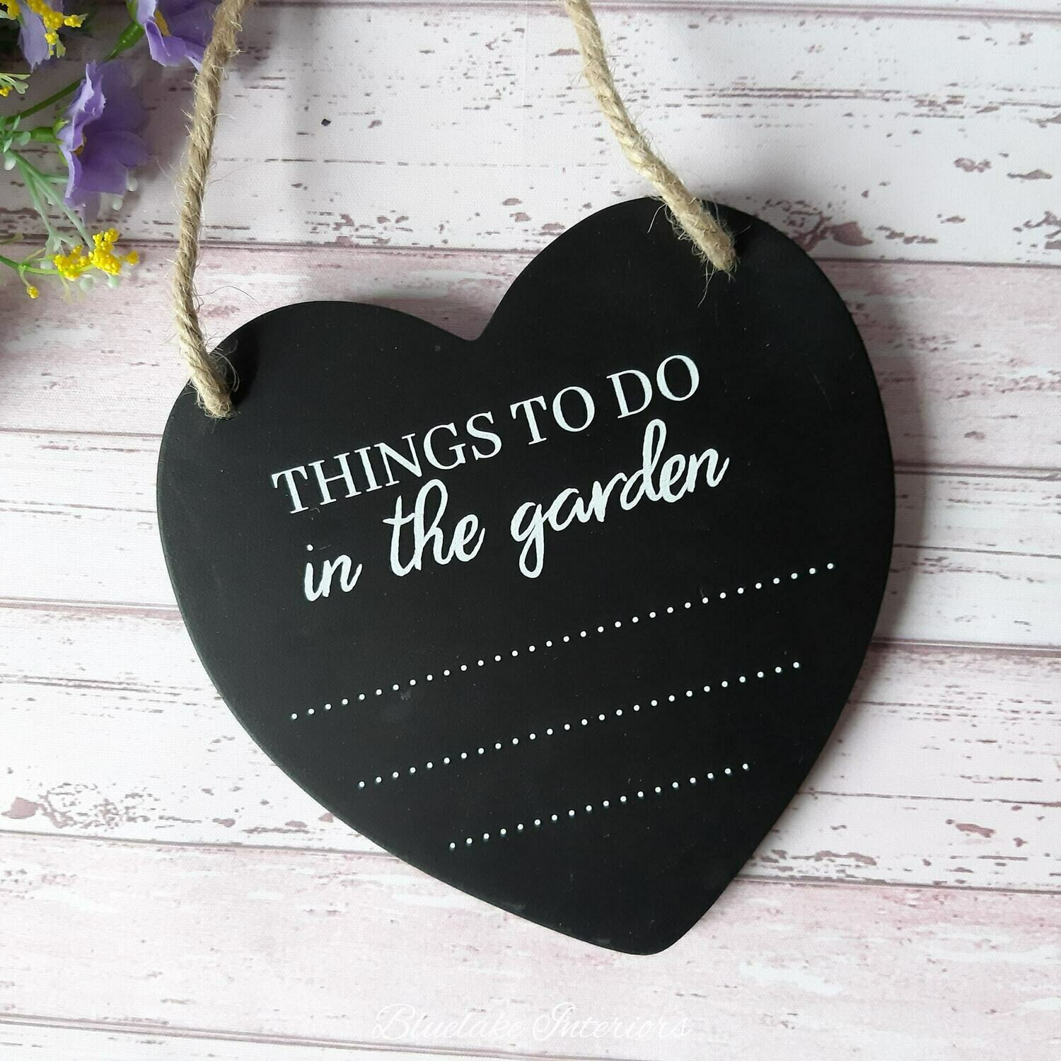 The Potting Shed Heart Chalkboard Things To Do In The Garden