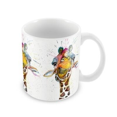 Rainbow Splatter Giraffe Ceramic Mug from Wraptious