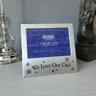 We Love Our Dad Satin Silver Colour Photo Frame Father's Day Gift