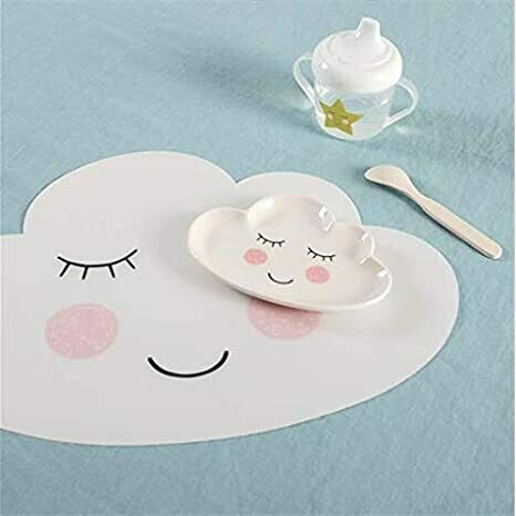 Set Of 2 Sweet Dreams White Smiling Cloud Placemats
