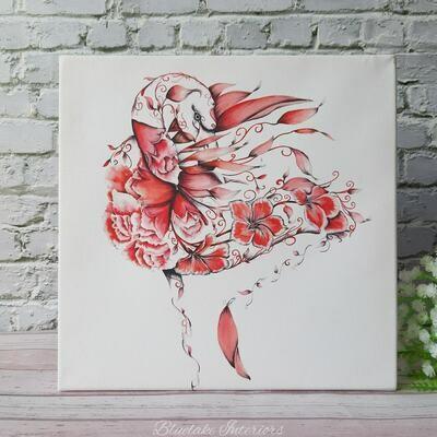 Flo The Flamingo Mini Canvas From Wraptious