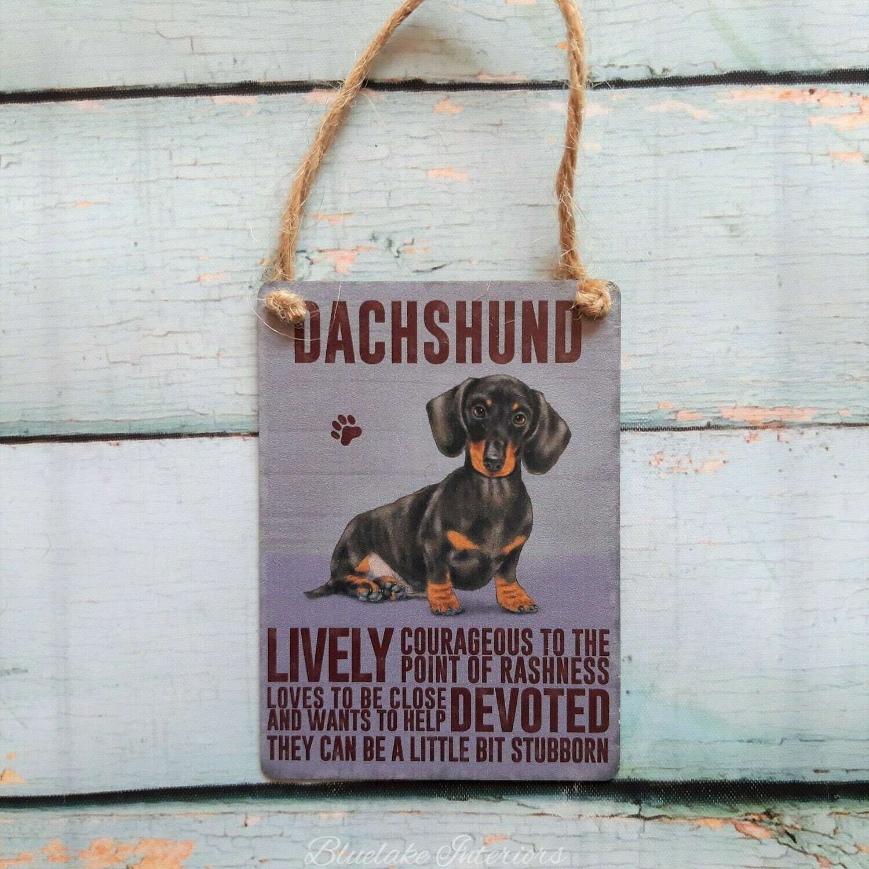 Dachshund Mini Metal Dog Sign