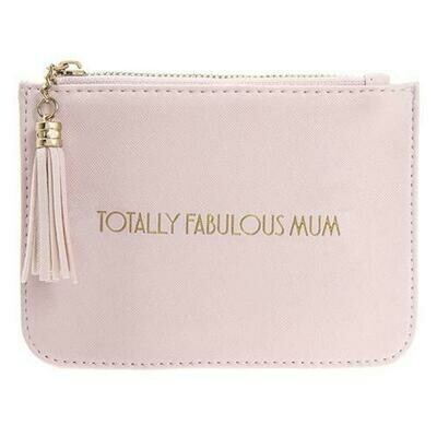 Shine Bright Totally Fabulous Mum Pink Zip Top Purse With Tassel