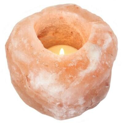 Natural Himalayan Salt Tea Light Candle Holder