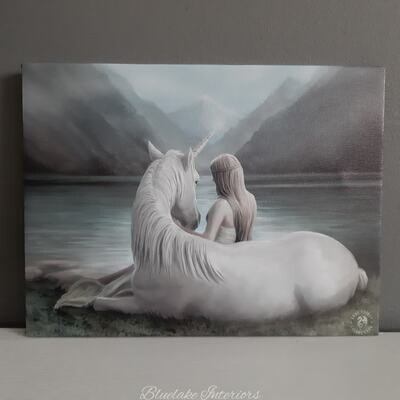 Mythical Unicorn Beyond Words Canvas Picture by Anne Stokes