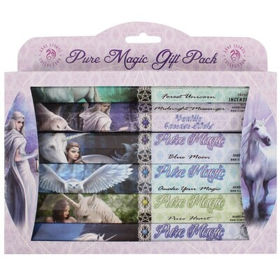 Anne Stokes Pure Magic Incense Gift Pack 6 Assorted Packs Of Fragrant Sticks