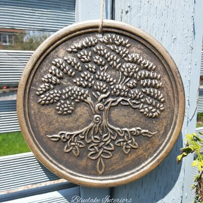 Bronze Effect Tree Of Life Plaque By Lisa Parker