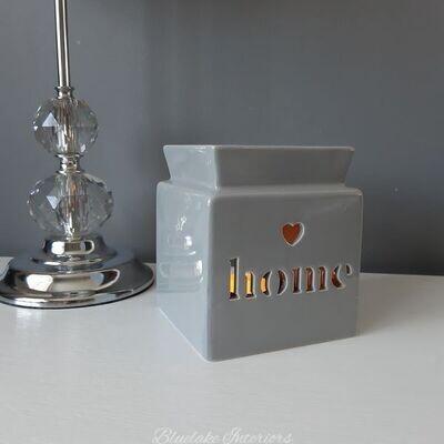 Contemporary Grey Ceramic Home Design Wax Melt & Oil Burner