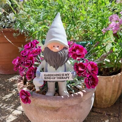 Potting Shed Garden Gnome Ornament Gardening Is My Kind Of Therapy