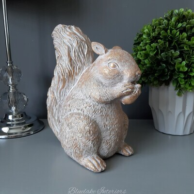 Gorgeous Gold Washed Squirrel Ornament
