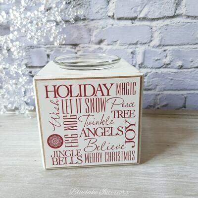 Christmas Words Tea Light Holder