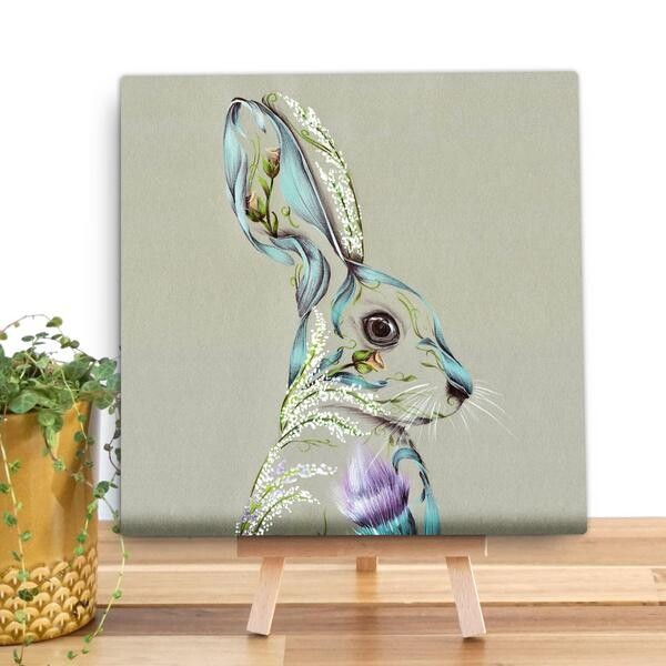 Rustic Hare Mini Canvas From Wraptious